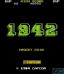 Title screen of the game 1942 on MAME