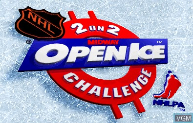 Title screen of the game 2 on 2 Open Ice Challenge on MAME