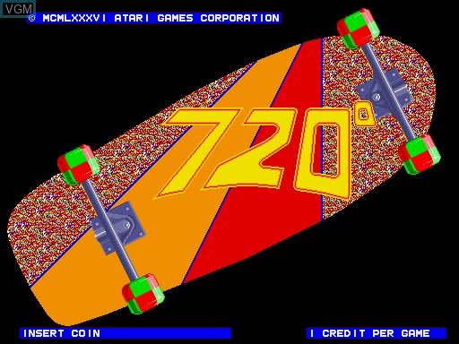 Title screen of the game 720 Degrees on MAME