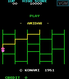 Title screen of the game Amidar on MAME