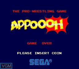 Title screen of the game Appoooh on MAME