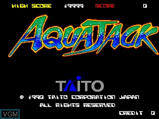 Title screen of the game Aqua Jack on MAME