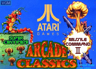 Title screen of the game Arcade Classics on MAME