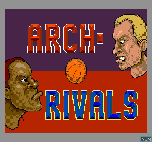 Title screen of the game Arch Rivals on MAME