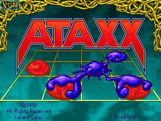 Title screen of the game Ataxx on MAME