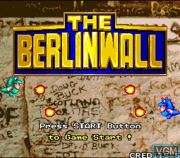 Title screen of the game Berlin Wall, The on MAME