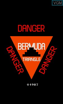 Title screen of the game Bermuda Triangle on MAME