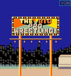Title screen of the game Big Pro Wrestling!, The on MAME