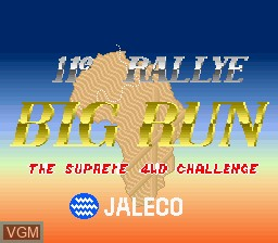 Title screen of the game Big Run on MAME