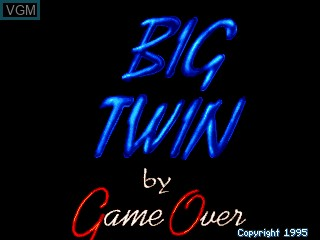 Title screen of the game Big Twin on MAME