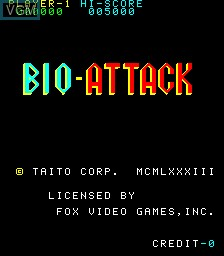 Title screen of the game Bio Attack on MAME