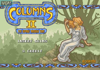 Title screen of the game Columns II - The Voyage Through Time on MAME