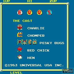 Title screen of the game Eggs on MAME