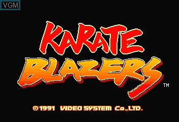 Title screen of the game Karate Blazers on MAME