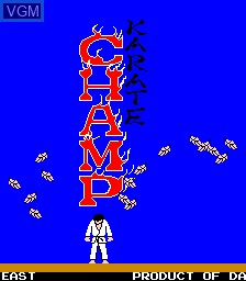 Title screen of the game Karate Champ on MAME
