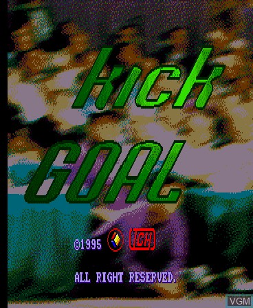 Title screen of the game Kick Goal on MAME