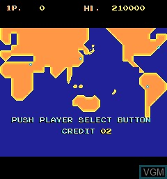 Menu screen of the game Mysterious Stones - Dr. John's Adventure on MAME