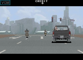 Menu screen of the game Under Fire on MAME