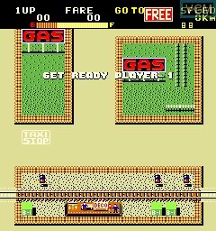 Menu screen of the game Kamikaze Cabbie on MAME