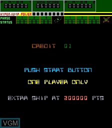 Menu screen of the game A. D. 2083 on MAME