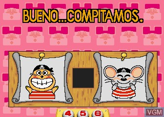 Menu screen of the game Animalandia Jr. on MAME