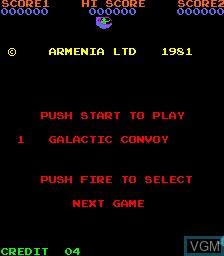 Menu screen of the game 4 Fun in 1 on MAME