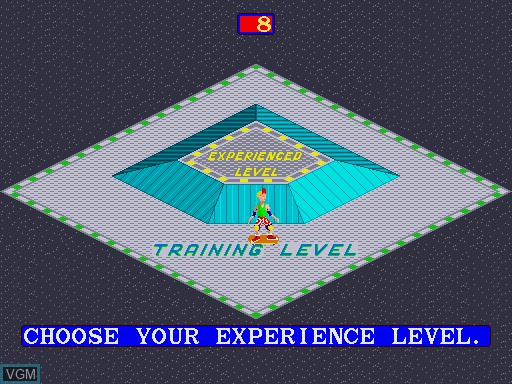 Menu screen of the game 720 Degrees on MAME