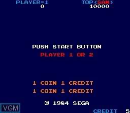 Menu screen of the game Appoooh on MAME