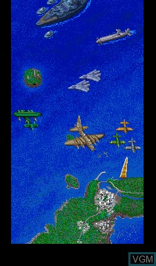 Menu screen of the game Arbalester on MAME