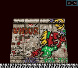 Menu screen of the game Berlin Wall, The on MAME