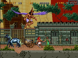 Menu screen of the game Big Karnak on MAME