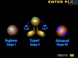 Menu screen of the game Big Twin on MAME