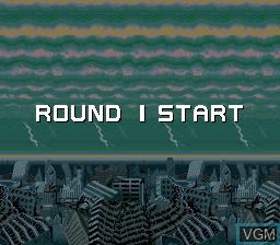 Menu screen of the game Bio-ship Paladin on MAME