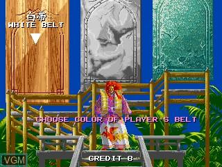 Menu screen of the game Karate Tournament, The on MAME