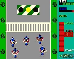 Menu screen of the game Kick Rider on MAME