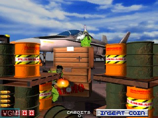 In-game screen of the game Area 51 on MAME