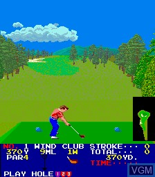 In-game screen of the game Big Event Golf on MAME