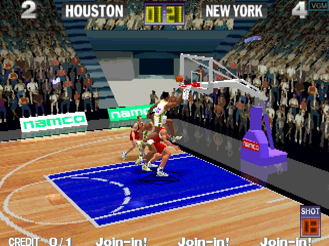 In-game screen of the game Dunk Mania on MAME