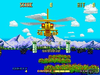 In-game screen of the game Apache 3 on MAME