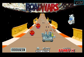 In-game screen of the game RoadWars on MAME