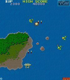 In-game screen of the game 1942 on MAME