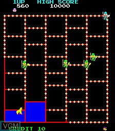 In-game screen of the game Amidar on MAME