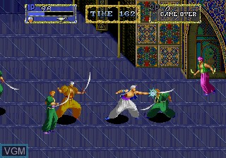 In-game screen of the game Arabian Magic on MAME