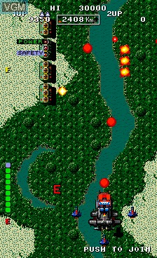 In-game screen of the game Bermuda Triangle on MAME