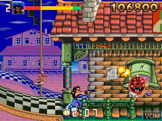 In-game screen of the game Biomechanical Toy on MAME