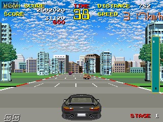 In-game screen of the game Chase H.Q. on MAME