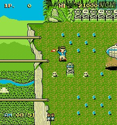In-game screen of the game Mysterious Stones - Dr. John's Adventure on MAME
