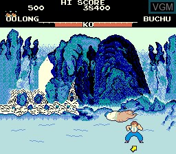In-game screen of the game Yie Ar Kung-Fu on MAME