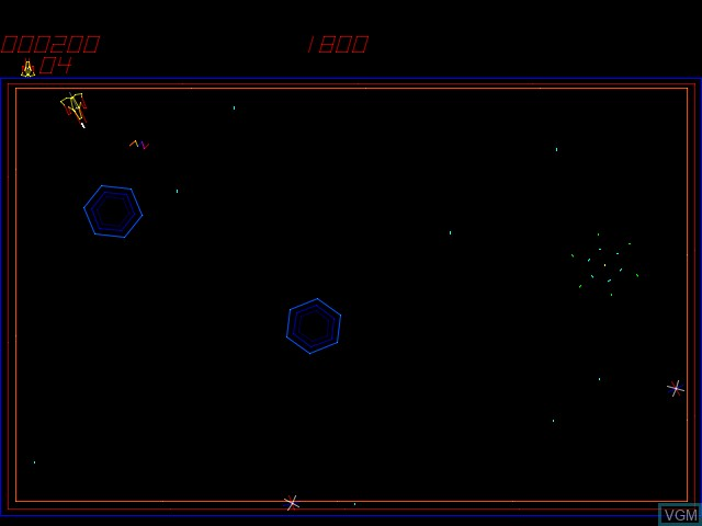In-game screen of the game Zektor on MAME