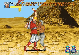In-game screen of the game Arabian Fight on MAME
